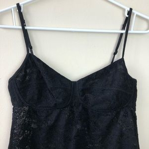 Wilfred Tops - Wilfred Aritzia Size M Bustier Floral Mesh Tank